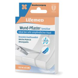 Lifemed Wund-Pflaster Sensitive, weiß, 500 mm x 60 mm