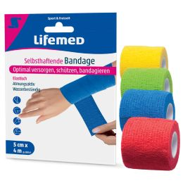 Lifemed selbsthaftende Bandage, 50 mm x 4,0 m