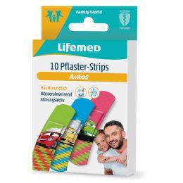 Lifemed Kinder-Pflaster-Strips Autos, 10er