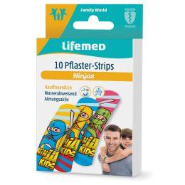 Lifemed Kinder-Pflaster-Strips Ninjas, 10er