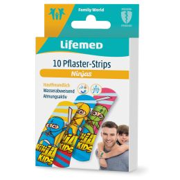 Lifemed Kinder-Pflaster-Strips Ninjas, 10er