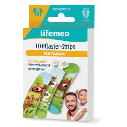 Lifemed Kinder-Plaster-Strips Farmtiere, 10er