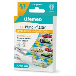 Lifemed Kinder-Wund-Pflaster Autos, 500 mm x 60 mm