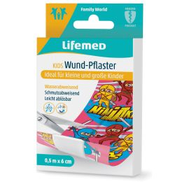 Lifemed Kinder-Wund-Pflaster Ninjas, 500 mm x 60 mm