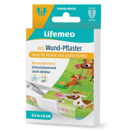 Lifemed Kinder-Wund-Pflaster Farmtiere, 500 mm x 60 mm