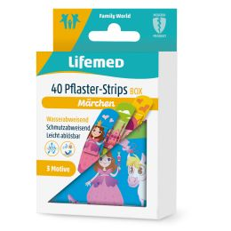 Lifemed Kinder-Pflaster-Strips Märchen, 40er Metallbox
