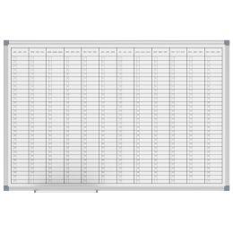 MAUL Jahresplaner horizontale Monatseinteilung, 900 x 600 mm