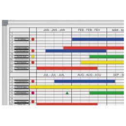 MAUL Monats-/Jahresplaner, 2x6 Monate, (B)900 x (T)600 mm