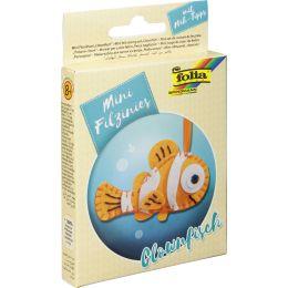 folia Mini Filz-Nähset Filzinies, 12-teilig, Clownfisch