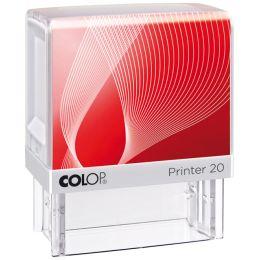 COLOP Textstempel Printer 20, 4-zeilig, konfigurierbar