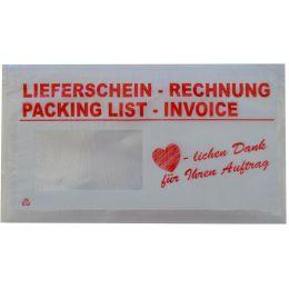 Herlitz Prospekthülle mit Faltentasche DIN A4 PVC 0,30 mm glasklar 5 Hüllen