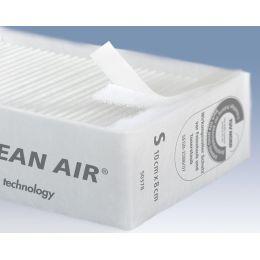 tesa Feinstaubfilter CLEAN AIR, Größe S, Maße: 100 x 80 mm