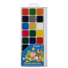Läufer Deckfarbkasten, 24 Farben, aus Kunststoff