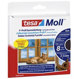 tesa Moll CLASSIC P-Profil Gummidichtung, braun, 9 mm x 6 m