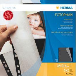 HERMA Fotokarton, 230 x 297 mm, 230 g/qm, schwarz