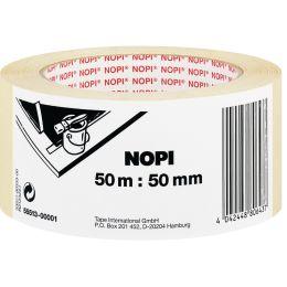 NOPI Maler Krepp Papierabdeckband, 19 mm x 50 m, beige