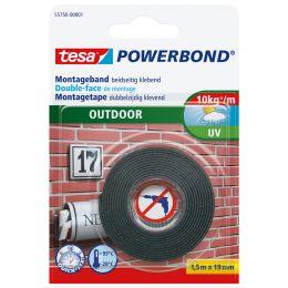 tesa Powerbond Montageband OUTDOOR, 19 mm x 1,5 m