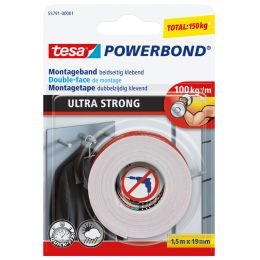 tesa Powerbond Montageband Ultra Strong, 19 mm x 1,5 m