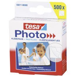 tesa Photo Foto-Klebepads, weiß, beidseitig klebend