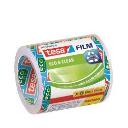 tesa Film Eco & Clear SPARPACK, transparent, 15 mm x 10 m
