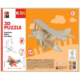 Marabu KiDS 3D Puzzle Flugzeug Doppeldecker, 25 Teile