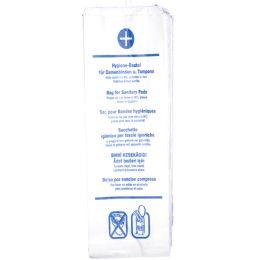 HYGOSTAR Papier-Hygienebeutel, bedruckt, weiß