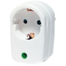 LogiLink Überspannungsschutz-Adapter, weiß