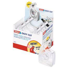 tesa Easy Cut Handabroller, schwarz, unbest�ckt, Display