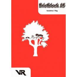 VIKTOR RICHTER Briefblock A5, ungelocht, 70 g/qm, liniert