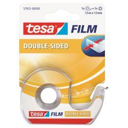 tesa Film, doppelseitig, 12 mm x 7,5 m + Einwegabroller