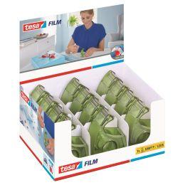 tesa ecoLogo Easy Cut Handabroller, grün, im Thekendisplay