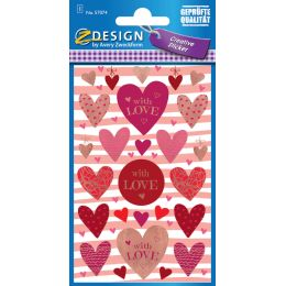 AVERY Zweckform ZDesign Geschenke-Sticker LOVE