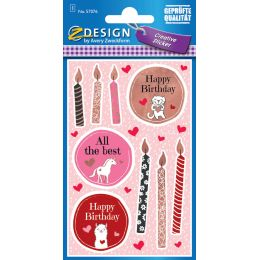 AVERY Zweckform ZDesign Geschenke-Sticker Happy Birthday