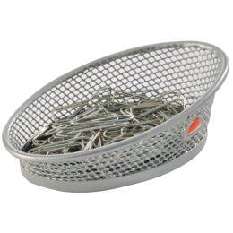ALBA Klammerspender MESHCLIP, aus Drahtmetall, grau