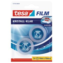 tesa Film, kristall-klar, 8-er Pack, 19 mm x 10 m
