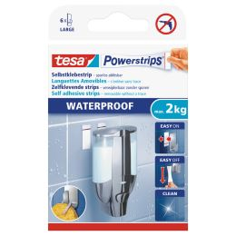 tesa Powerstrips Klebepads LARGE WATERPROOF, weiß