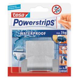 tesa Powerstrips Duo-Haken WAVE WATERPROOF, aus Edelstahl