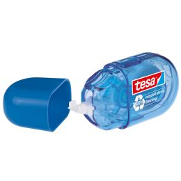 tesa ecoLogo Einweg-Mini-Korrekturroller, 5 mm x 6 m, blau