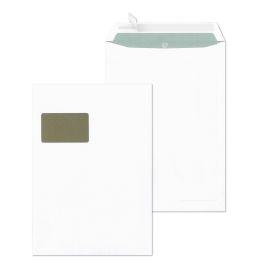 MAILmedia Papprückwandtaschen C4, mit Fenster, weiß