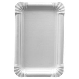 PAPSTAR Papp-Teller pure eckig, 130 x 200 mm, weiß, 25er