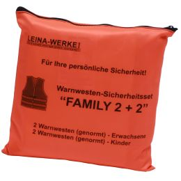 LEINA Pannenwesten/Warnwesten-Set Family 2+2, orange