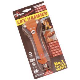 LEINA Notfallhammer, mit Gurtschneider, orange