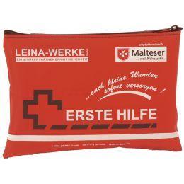 LEINA Mobiles Erste-Hilfe-Set, 24-teilig, Nylon, rot