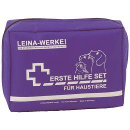 LEINA Erste-Hilfe-Set für Haustiere, 24-teilig, blau