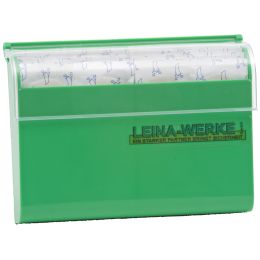 LEINA Pflasterspender, nachfüllbar, aus Kunststoff, grün