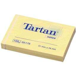 Tartan Notes Haftnotizen, 76 x 76 mm, hellgelb,