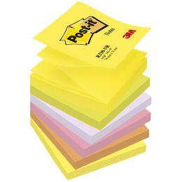 Post-it Haftnotizen Z-Notes, 76 x 76 mm, 6-farbig
