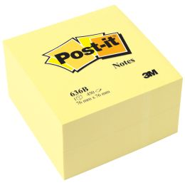 Post-it Haftnotiz-Würfel, 76 x 76 mm, gelb
