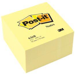 Post-it Haftnotiz-Würfel, 76 x 76 mm, gelb