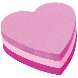 Post-it Haftnotiz-Würfel, 70 x 70 mm, Herz-Form, 3-farbig